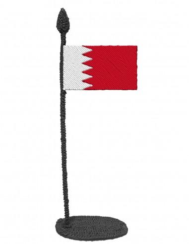 Флаг Бахрейна (Трафарет для 3D-ручки)