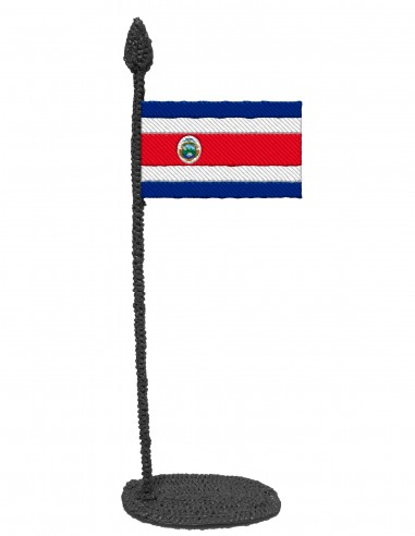 Flag of Costa Rica (Free Template For a 3D Pen)