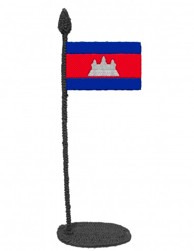 Flag of Cambodia (Free Template For a 3D Pen)
