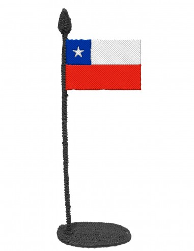 Flag of Chile (Free Template For a 3D Pen)