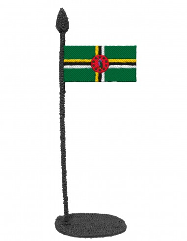 Flag of Dominica (Free Template For a 3D Pen)
