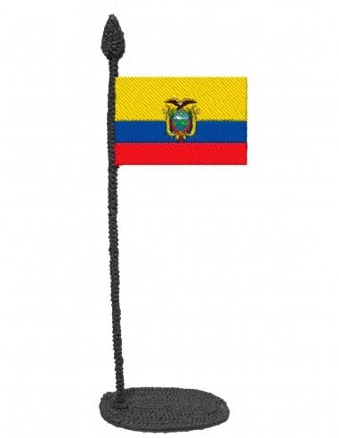 Flag of Ecuador (Free Template For a 3D Pen)