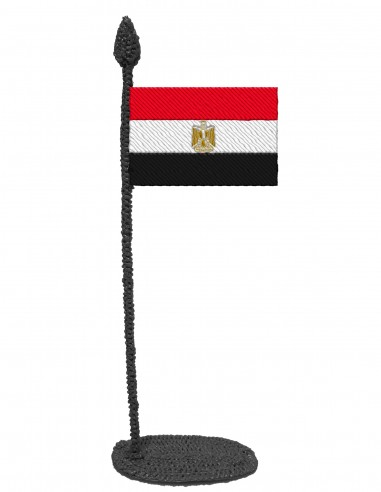 Flag of Egypt (Free Template For a 3D Pen)