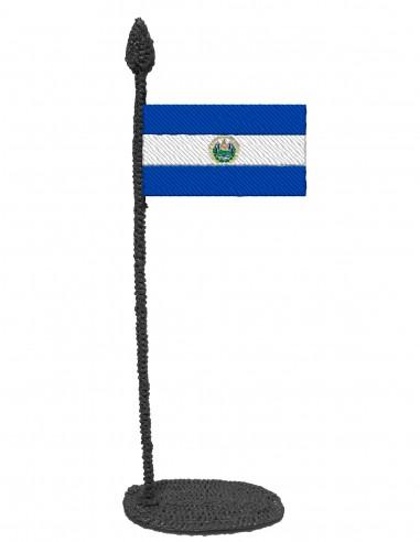 Flag of El Salvador (Free Template For a 3D Pen)
