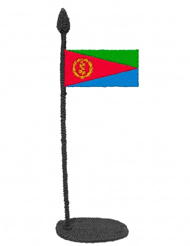 Flag of Eritrea (Free Template For a 3D Pen)