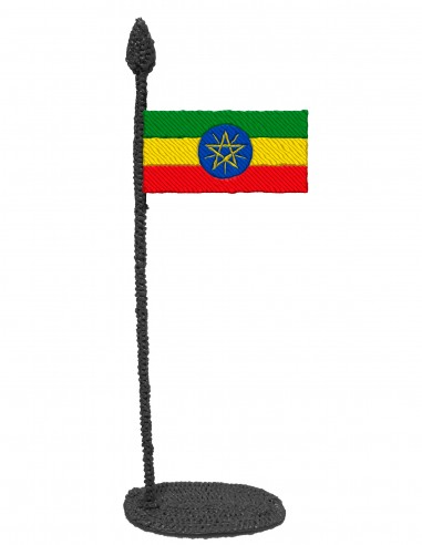 Flag of Ethiopia (Free Template For a 3D Pen)