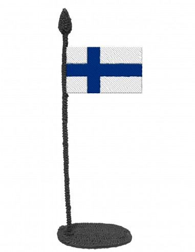 Flag of Finland (Free Template For a 3D Pen)