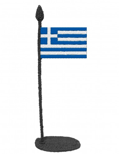 Flag of Greece (Free Template For a 3D Pen)