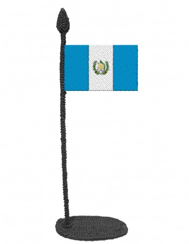 Flag of Guatemala (Free Template For a 3D Pen)