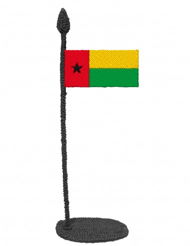 Flag of Guinea Bissau (Free Template For a 3D Pen)
