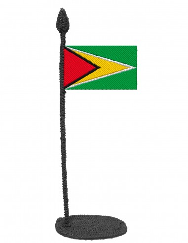 Flag of Guyana (Free Template For a 3D Pen)