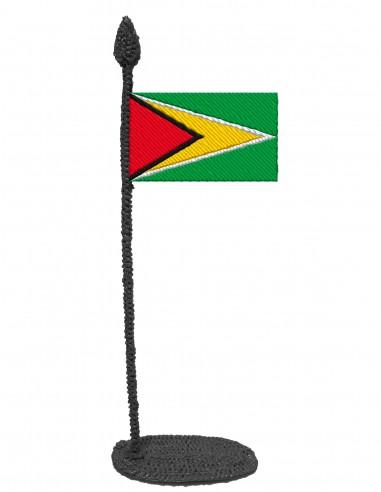 Флаг Гайаны (Трафарет для 3D-ручки)