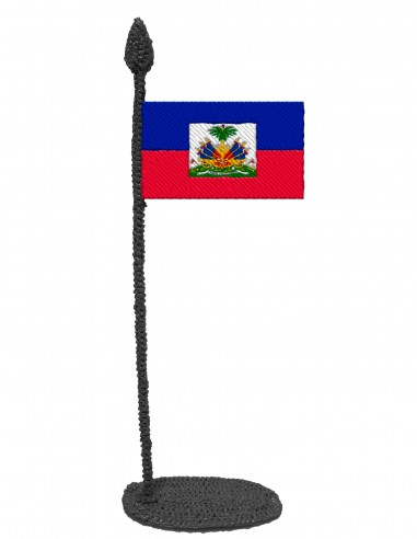 Flag of Haiti (Free Template For a 3D Pen)