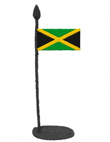 Flag of Jamaica (Free Template For a 3D Pen)
