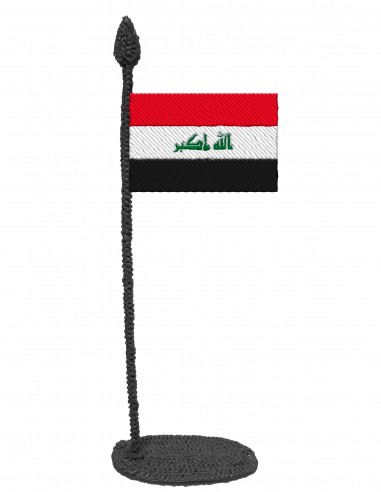 Flag of Iraq (Free Template For a 3D Pen)