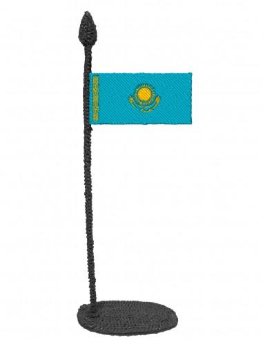 Flag of Kazakhstan (Free Template For a 3D Pen)