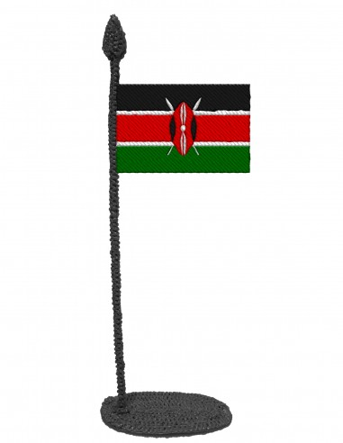 Flag of Kenya (Free Template For a 3D Pen)