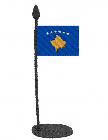 Flag of Kosovo (Free Template For a 3D Pen)