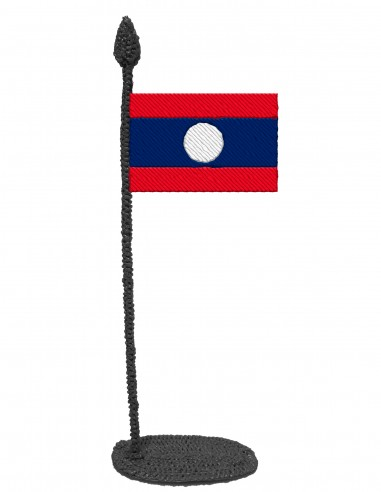 Flag of Laos (Free Template For a 3D Pen)