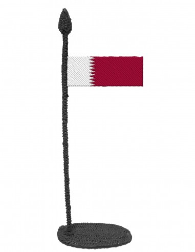 Flag of Qatar (Free Template For a 3D Pen)