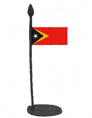 Flag of Timor Leste (Free Template For a 3D Pen)