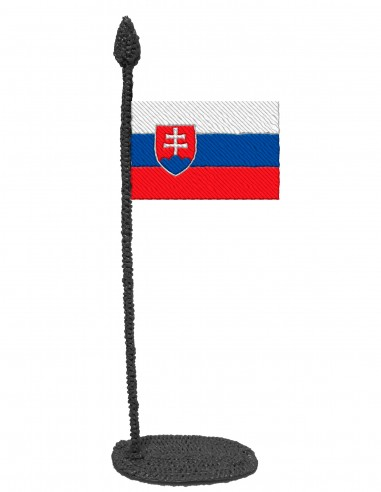 Flag of Slovakia (Free Template For a 3D Pen)