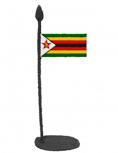 Flag of Zimbabwe (Free Template For a 3D Pen)