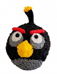 Bomb from Angry Birds (Free Template For a 3D Pen)