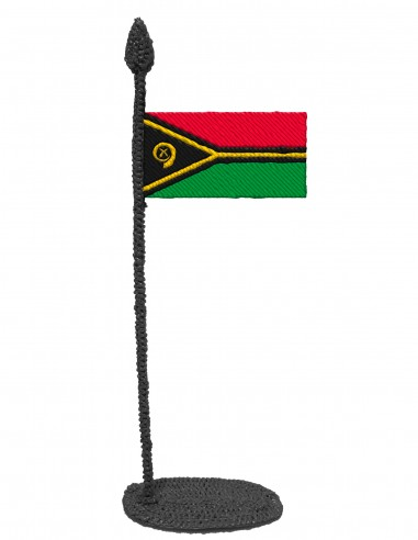 Flag of Vanuatu (Free Template For a 3D Pen)