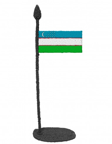 Flag of Uzbekistan (Free Template For a 3D Pen)