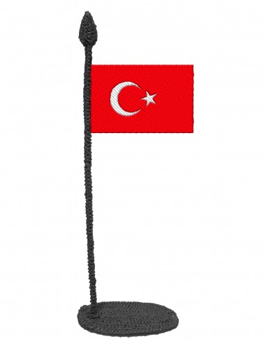 Flag of Turkey (Free Template For a 3D Pen)