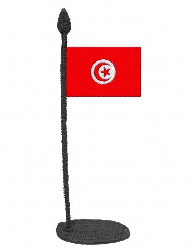 Флаг Туниса (Трафарет для 3D-ручки)