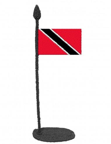 Флаг Тринидада И Тобаго (Трафарет для 3D-ручки)