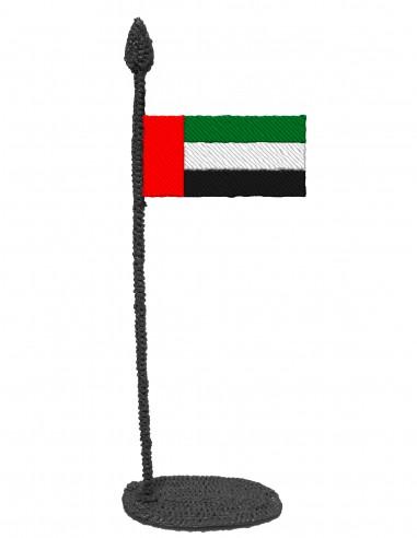 Флаг Объединенных Арабских Эмиратов (Трафарет для 3D-ручки)
