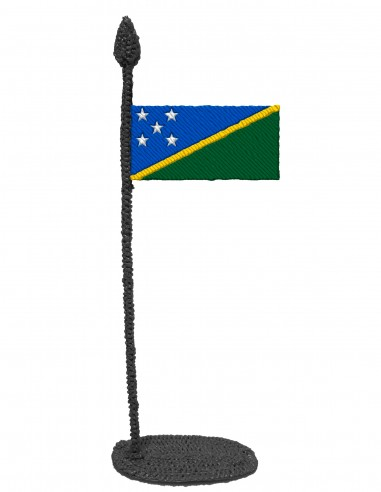 Flag of The Solomon Islands (Free Template For a 3D Pen)