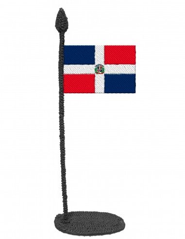 Флаг Доминиканской Республики (Трафарет для 3D-ручки)