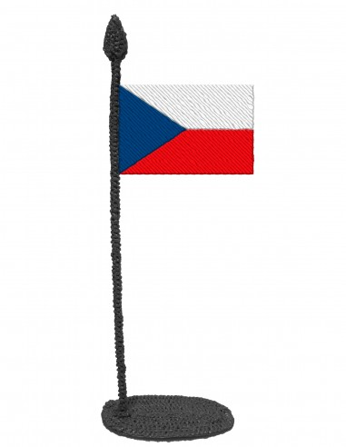 Flag of Czechia (Free Template For a 3D Pen)