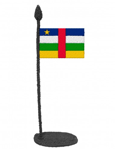 Flag of Central African Republic (Free Template For a 3D Pen)