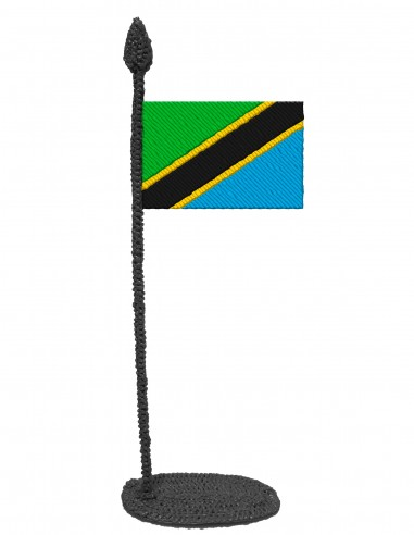 Flag of Tanzania (Free Template For a 3D Pen)