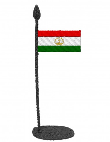 Flag of Tajikistan (Free Template For a 3D Pen)