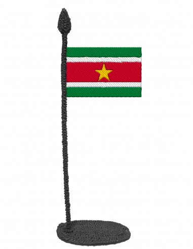 Flag of Suriname (Free Template For a 3D Pen)