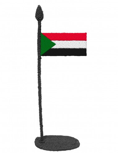 Flag of Sudan (Free Template For a 3D Pen)