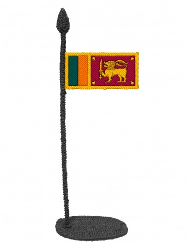 Flag of Sri Lanka (Free Template For a 3D Pen)