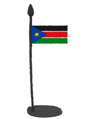 Flag of South Sudan (Free Template For a 3D Pen)