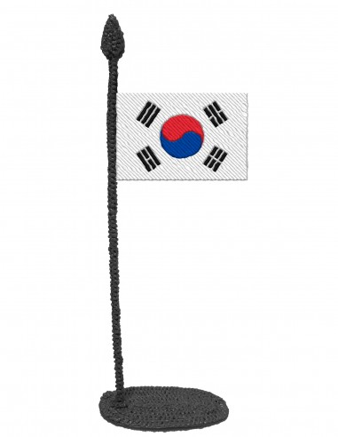 Flag of South Korea (Free Template For a 3D Pen)