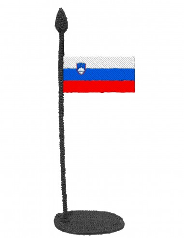 Flag of Slovenia (Free Template For a 3D Pen)