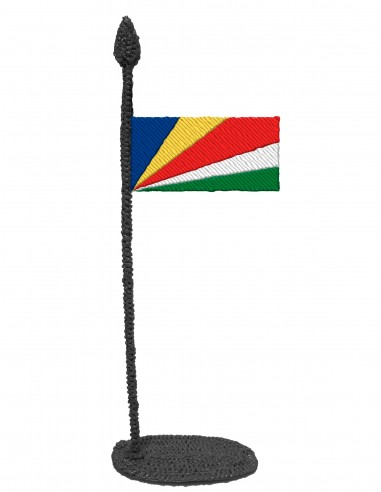 Flag of Seychelles (Free Template For a 3D Pen)