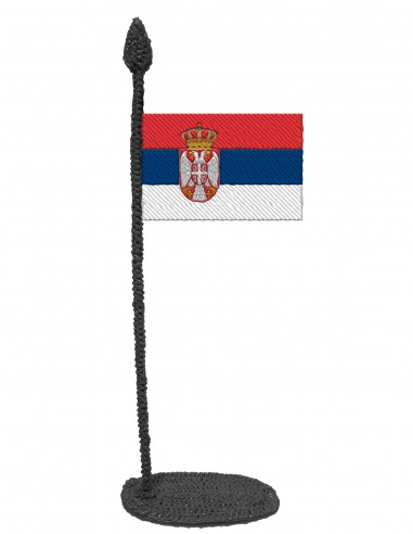 Флаг Сербии (Трафарет для 3D-ручки)