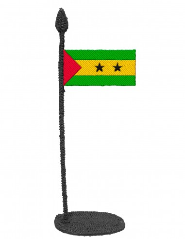 Flag of Sao Tome And Principe (Free Template For a 3D Pen)
