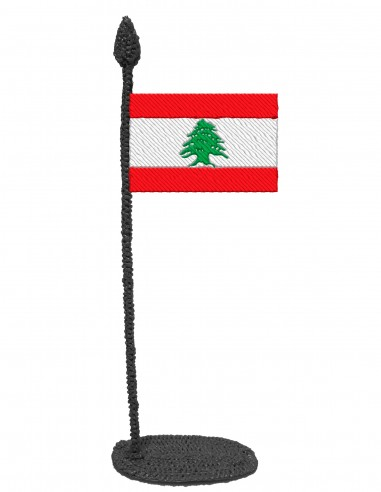 Flag of Lebanon (Free Template For a 3D Pen)